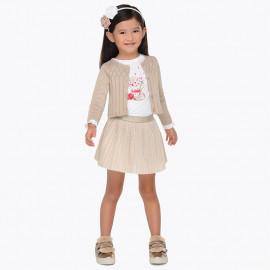 Mayoral 4980-92 Dívčí set se sukní zlatá barva