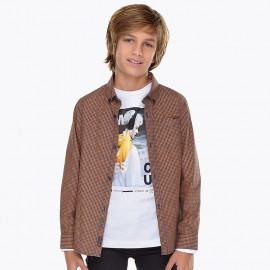 Mayoral 7144-24 košile chlapci jantarové barvy