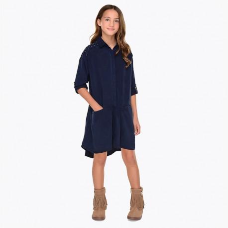 Mayoral 7946-21 Dívčí šaty barevně tmavě modré