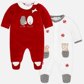 Mayoral 2748-25 dívčí pyžamo 2 ks třešňové barvy