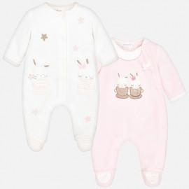Mayoral 2748-25 dívčí pyžamo 2 ks barva růží