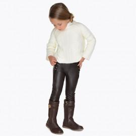 Mayoral 4544-22 Dívčí kalhoty hnědé barvy