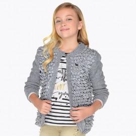 Mayoral 7328-25 Dívčí svetr šedá barva