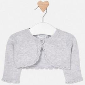Mayoral 318-21 Dívčí svetr stříbrná barva