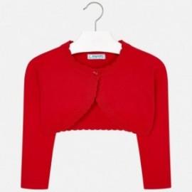 Mayoral 320-12 Sweater dívka boler červená barva