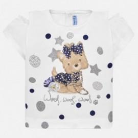 Mayoral 1007-53 tričko dívčí bílá barva