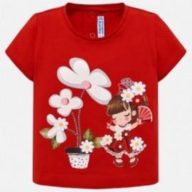 Mayoral 1014-14 Dívčí tričko červená barva