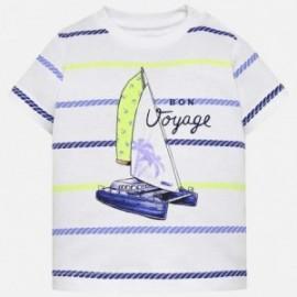 Mayoral 1018-73 Tričko pro chlapce bílá/modrá