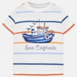 Mayoral 1018-74 tričko chlapci barva bílá/námořní