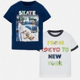 Mayoral 1028-15 dvě trička chlapci barva námořnictva