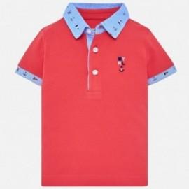 Mayoral 1114-49 Polo chlapci červená barva