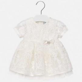Mayoral 1905-15 Dívčí šaty krémová barva