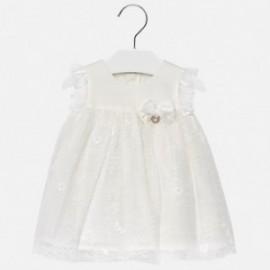 Mayoral 1909-15 Dívčí šaty krémová barva