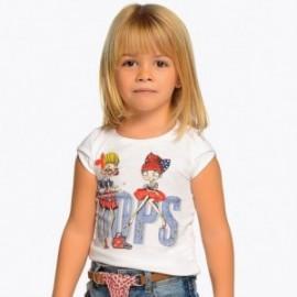 Mayoral 3006-46 Dívčí tričko barva bílá