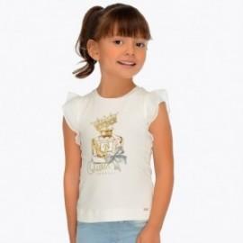 Mayoral 3007-61 Dívčí košile krémová barva