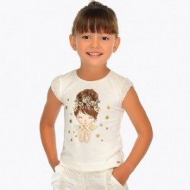 Mayoral 3008-89 Dívčí tričko barevný krém