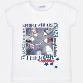 Mayoral 3015-64 Dívčí tričko bílé barvy