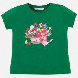 Mayoral 3015-60 Dívčí tričko zelená barva