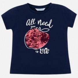 Mayoral 3015-63 Dívčí tričko barva námořnictva