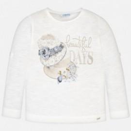 Mayoral 3016-73 Dívčí tričko krémová barva