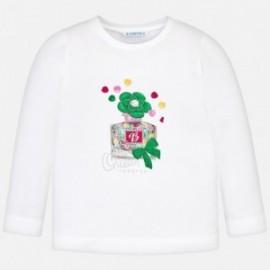 Mayoral 3018-76 Dívčí tričko bílé barvy