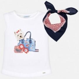 Mayoral 3019-69 Dívčí košilka barva bílá