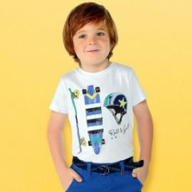 Mayoral 3029-81 Tričko pro chlapce bílé barvy