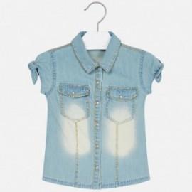 Mayoral 3106-41 Jeansová halenka holčičí barva modrý