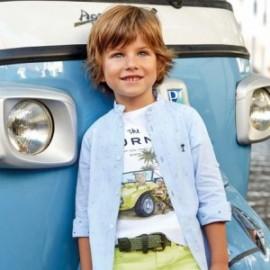 Mayoral 3140-67 Chlapčenská košile modrá barva