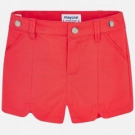 Mayoral 3213-55 Dívčí šortky v červené barvě