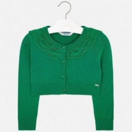 Mayoral 3302-77 dívčí svetr bolero barva zelená
