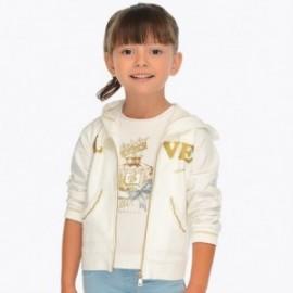 Mayoral 3411-17 Mikina pro dívky krémová barva
