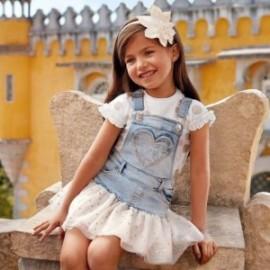 Mayoral 3905-34 sukně zahradník holčičí barva modrý