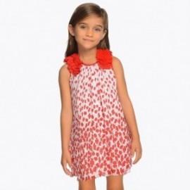 Mayoral 3915-47 šaty holčičí Červená barva
