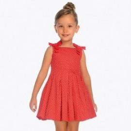 Mayoral 3917-42 Dívčí šaty Červená barva
