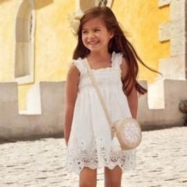 Mayoral 3940-57 Dívčí šaty krémová barva