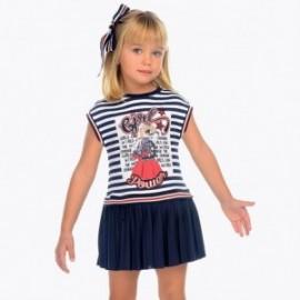 Mayoral 3949-89 Dívčí pruhované šaty barvy tmavě modré