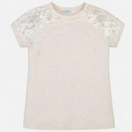 Mayoral 6008-10 Dívčí tričko krémová barva