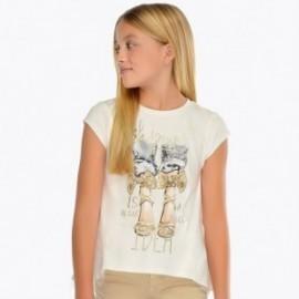 Mayoral 6009-27 Dívčí tričko v zlaté barvě