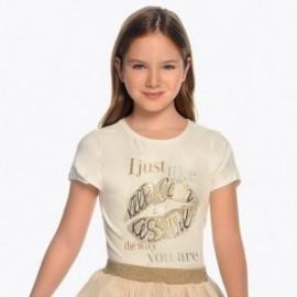 Mayoral 6012-74 Dívčí tričko s barevným krémem