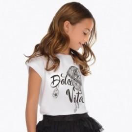 Mayoral 6017-15 tričko holčičí barva bílá/černá