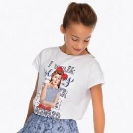 Mayoral 6020-58 Dívčí tričko bílé barvy