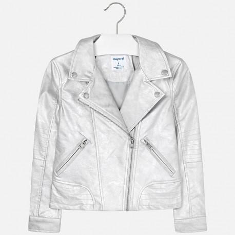 Mayoral 6410-39 Dívčí bunda stříbrná barva