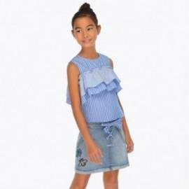 Mayoral 6903-91 Dívčí džínová sukně barva tmavě modrá
