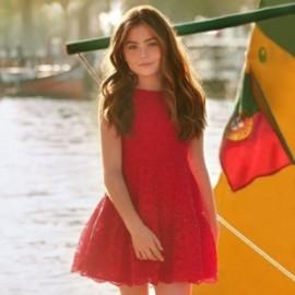 Mayoral 6912-69 Dívčí šaty červená barva