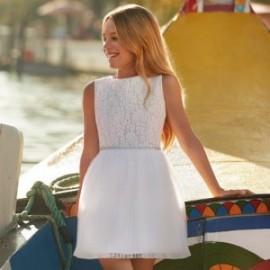 Mayoral 6915-10 Dívčí šaty barva bílá