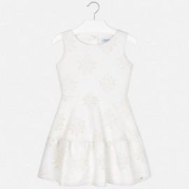 Mayoral 6918-51 Dívčí šaty krémová barva