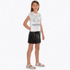 Mayoral 6939-78 Dívčí šaty barva bílá/černá