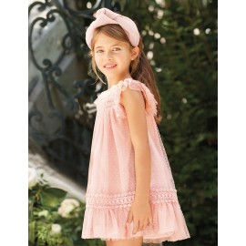 Abel & Lula 5014-5 Dívčí šaty krémová barva