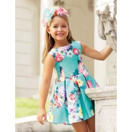 Abel & Lula 5032-9 Dívčí šaty barvy tyrkysové